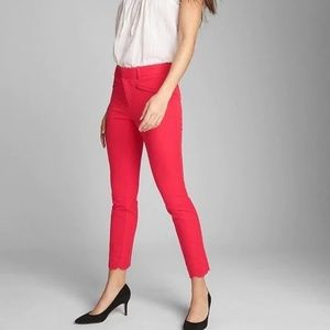 GAP Skinny Ankle Eyelet Embroidery Red size 0P/25P